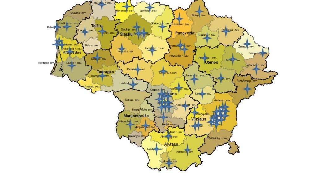 Akredituotų įstaigų žemėlapis 2016-10-25 (2)